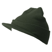 Beanie With Short Visor
