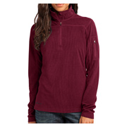 Eddie Bauer Ladies 1/4-Zip Grid Fleece Pullover