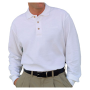 Vantage Long Sleeve Enterprise Pique Polo