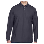 Devon & Jones Men's Pima Pique Long-Sleeve Polo