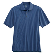 Izod Men's Performance Oxford Pique Argyle Polo Shirt