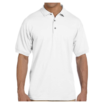 Gildan Ultra Cotton 6.5 oz. Pique Polo - White
