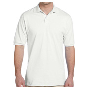 Jerzees Men's 5.6 oz. Jersey Polo With SpotShield - White