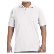 Anvil Men's Pique Polo - White