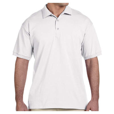 Gildan Ultra Cotton 6 oz. Jersey Polo - White