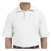 Jerzees Men's 6.5 oz. Ringspun Cotton Pique Polo - White