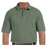 Harriton Men's 6 oz. Ringspun Cotton Pique Short-Sleeve Polo