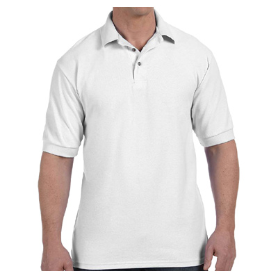 Hanes Men's 7 oz. ComfortSoft Cotton Pique Polo - White