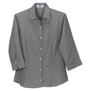 Vantage Women's Polynosic Herringbone 3/4 Sleeve Shirt