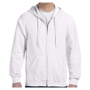 Gildan 7.75 oz. Heavy Blend 50/50 Full-Zip Hood - White