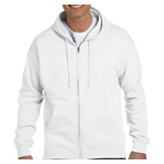 Hanes 7.8 oz. EcoSmart 50/50 Full-Zip Hood - White
