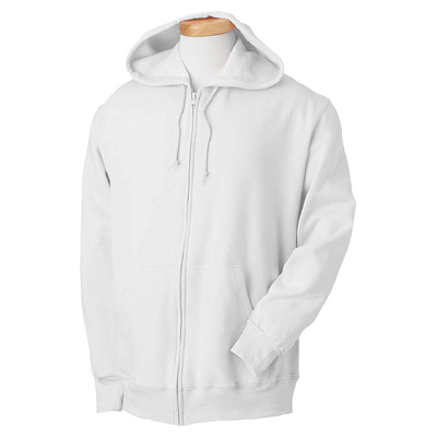 Fruit of the Loom 8 oz. Best 50/50 Full-Zip Hood - White