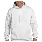 Hanes 9.7 oz. Ultimate Cotton 90/10 Pullover Hood - White