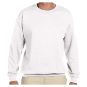 Hanes 10 oz. Ultimate Cotton 90/10 Fleece Crew - White