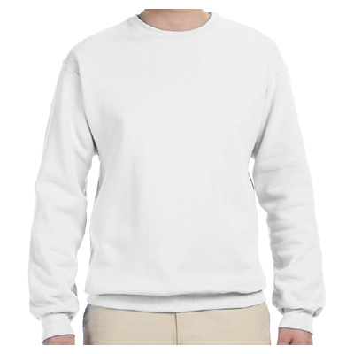 Jerzees 8 oz. 50/50 NuBlend Fleece Crew - White
