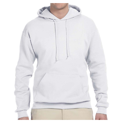 Jerzees 8 oz. 50/50 NuBlend Fleece Pullover Hood - White