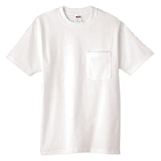 Anvil Heavyweight Pocket T-Shirt - White