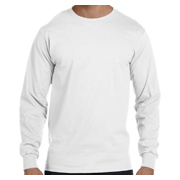 Gildan DryBlend 5.6 oz. 50/50 Long-Sleeve T-Shirt - White