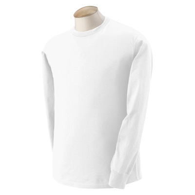 Fruit of the Loom 5.6 oz. 50/50 Best Long-Sleeve T-Shirt - White