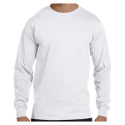 Hanes 6.1 oz. Long-Sleeve Beefy-T - White