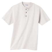 Anvil 7.1 oz. Henley - White