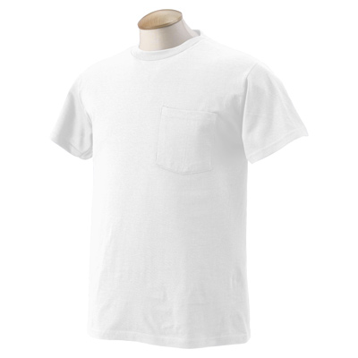 Fruit of the Loom 5.6 oz., 50/50 Best Pocket T-Shirt - White