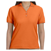 Devon & Jones Ladies' Pima Pique Short-Sleeve Y-Collar Polo