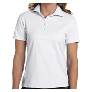Hanes Ladies' 7 oz. ComfortSoft Cotton Pique Polo - White