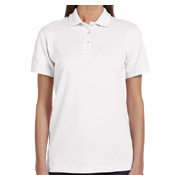 Anvil Ladies' Ringspun Pique Polo - White