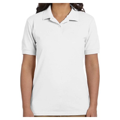 Gildan Ladies' DryBlend 6.5 oz. Pique Polo - White