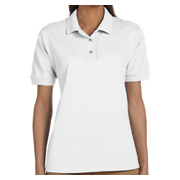 Gildan Ladies' 6.5 oz. Ultra Cotton Pique Polo - White