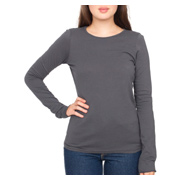 American Apparel Sheer Jersey Long Sleeve T