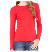 Bella + Canvas Ladies' Stretch Rib Long-Sleeve T-Shirt