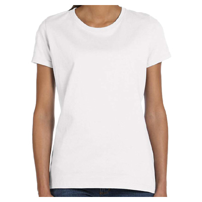 Fruit of the Loom Ladies' 5 oz., 100% Heavy Cotton HD T-Shirt - White