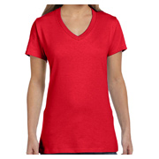 Hanes Ladies' 4.5 oz. 100% Ringspun Cotton Nano-T V-Neck T-Shirt