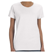 Gildan Ladies' 5.3 oz. T-Shirt - White