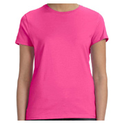 Hanes Ladies' 4.5 oz. 100% Ringspun Cotton Nano-T T-Shirt