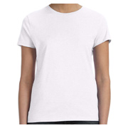 Hanes Ladies' 4.5 oz. 100% Ringspun Cotton nano-T T-Shirt - White