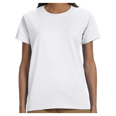 Gildan Ultra Cotton Ladies' 6 oz. T-Shirt - White