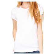 Bella + Canvas Ladies' Stretch Rib Short-Sleeve T-Shirt - White