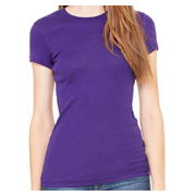 Bella + Canvas Ladies' Sheer Mini Rib Short-Sleeve T-Shirt