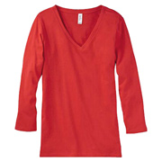 Bella + Canvas Missy Jersey 3/4-Sleeve V-Neck T-Shirt
