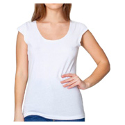 American Apparel Sheer Jersey 2-Sided Top - White