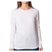 American Apparel Sheer Jersey Long Sleeve T - White