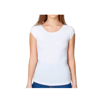 American Apparel Cotton Spandex Jersey Aerobic Top - White