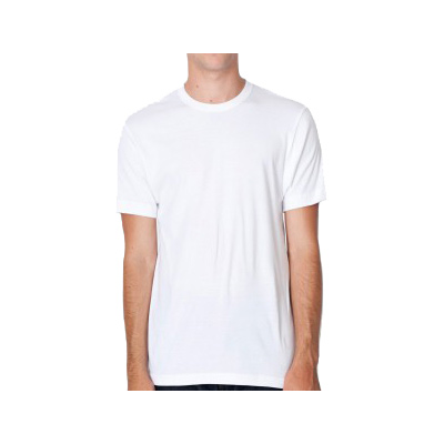 American Apparel Baby Rib Fitted Short Sleeve T-Shirt - White