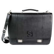 Millennium Leather Compu-Saddle Bag