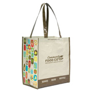 Laminated 100% Recycled Shopper Tote Bag