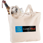 Signature Cotton Zippered Shopper Tote