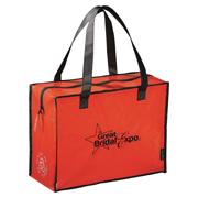 Laminated Non-Woven Box Zippered Tote